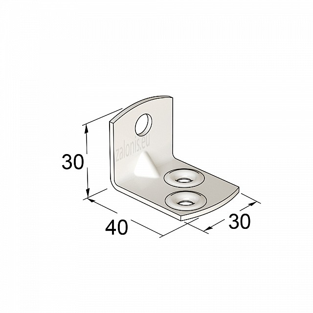 METAL CORNER 40x30x30 / WHITE